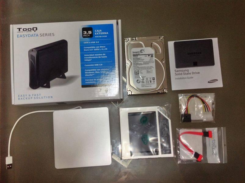 Componentes a instalar en el iMac