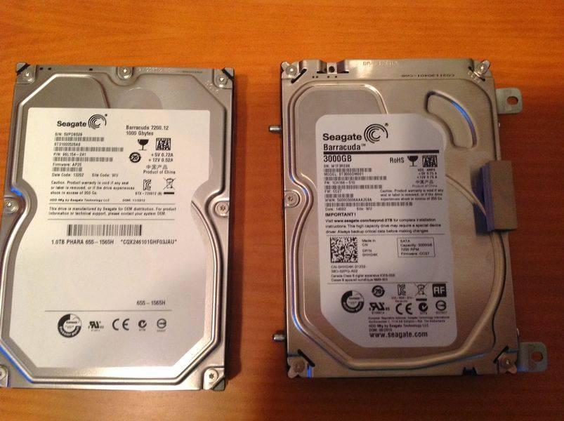 El viejo y el nuevo HDD