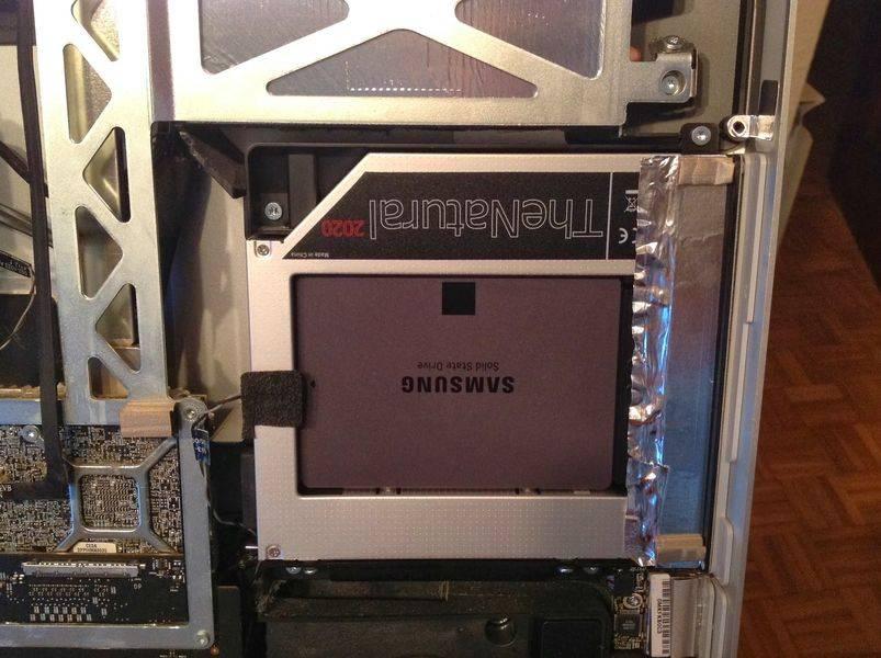 El SSD en el sitio de la SuperDrive